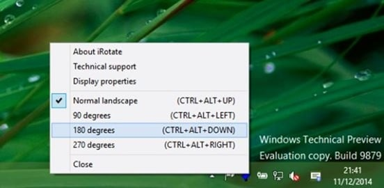 Keyboard shortcut to rotate screen orientation in Windows picture1