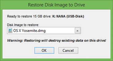 Mac OS X Bootable USB On Windows step6