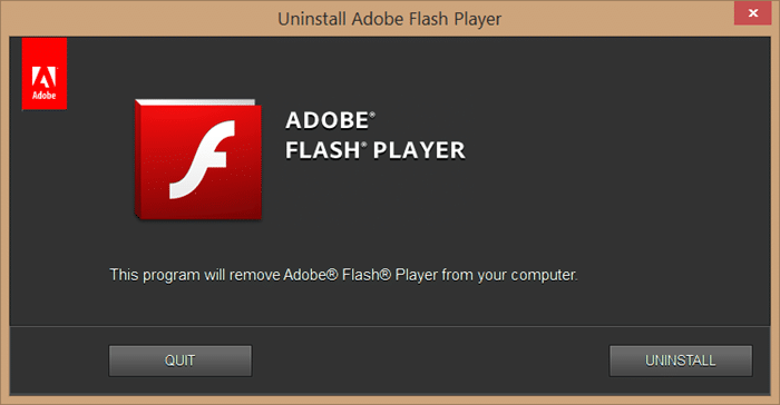 Revert to a previous version of Adobe Flash picture1