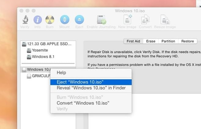 how to fix mac partition after bootcamp fail