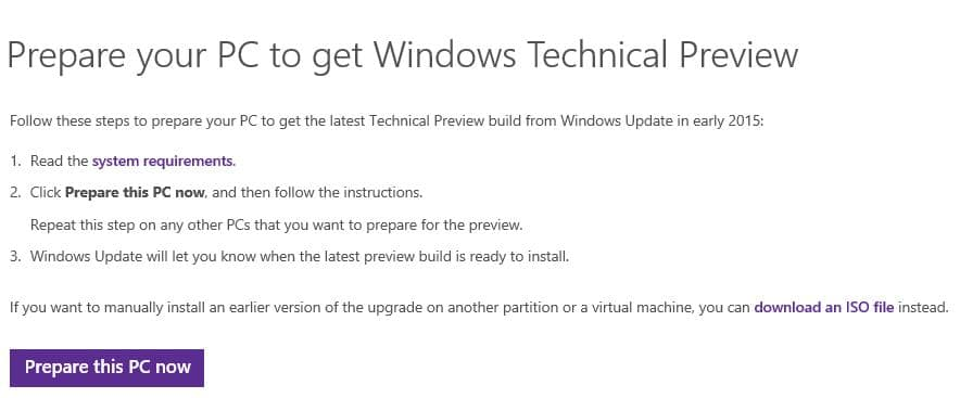 Get Windows 10 via update on Windows 7