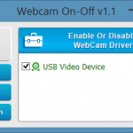 Webcam On-Off: Quickly Turn On or Off Webcam In Windows