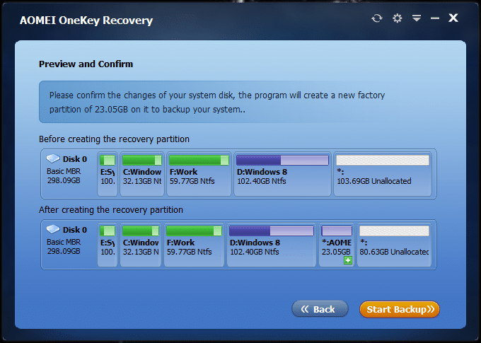 Create dedicated recovery partition Windows of 10 (2)