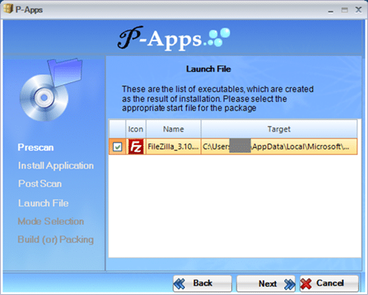 Create portable version of a software papps 5
