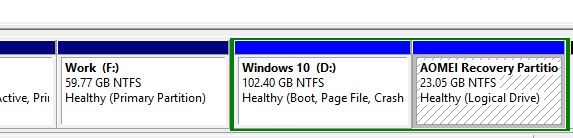 Recovery partition Windows