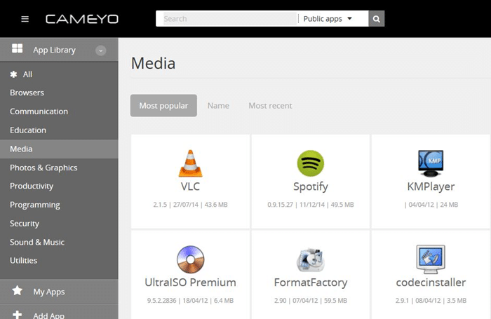 Run Windows programs from the cloud using Cameyo picture3