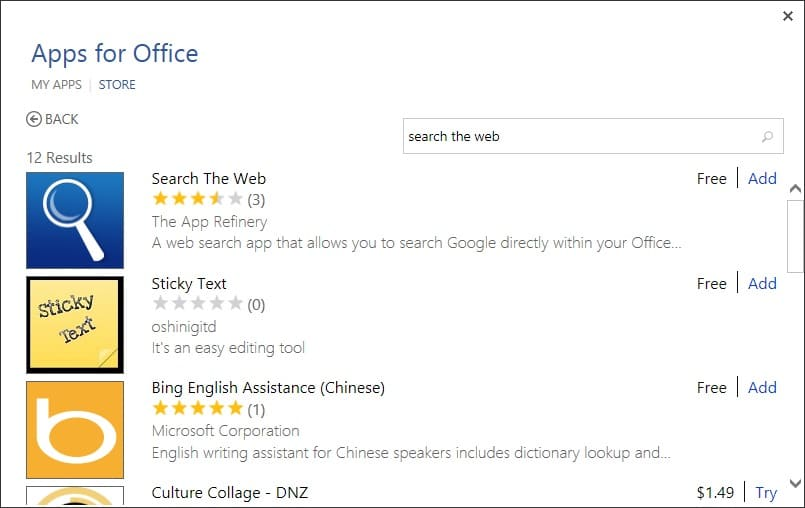 Search Google right from Office Word picture6