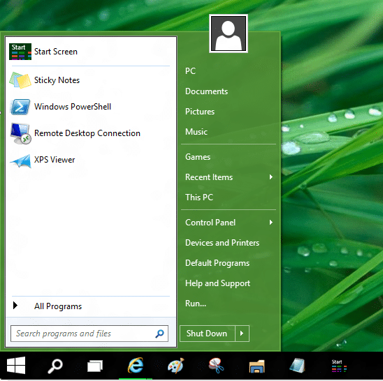 Use old and new Start menu together in Windows 10