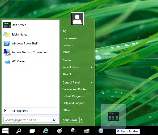 Use old and new Start together in Windows 10 OS