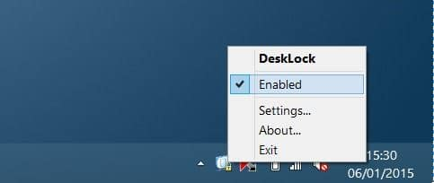 lock desktop icons in Windows picture1