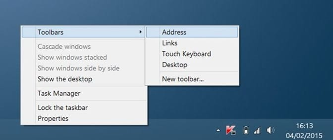 Add Windows 10 like taskbar search in Windows 7 and Windows 8.1 step2