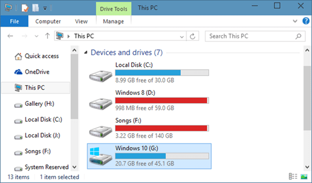 Delete Windows.old folder in Windows 10 step1
