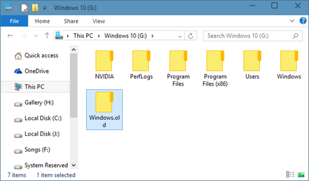 How To Delete Windows.old folder in Windows 10