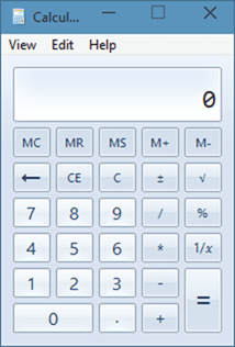 Old Calculator in Windows 10