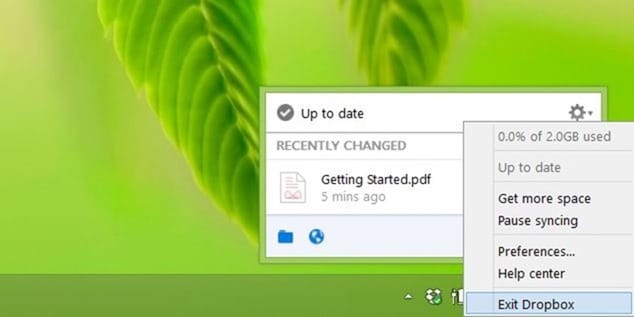 Remove Move to Dropbox from context menu step1
