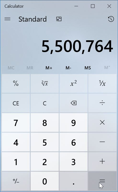 windows 7 style classic calculator for Windows 10