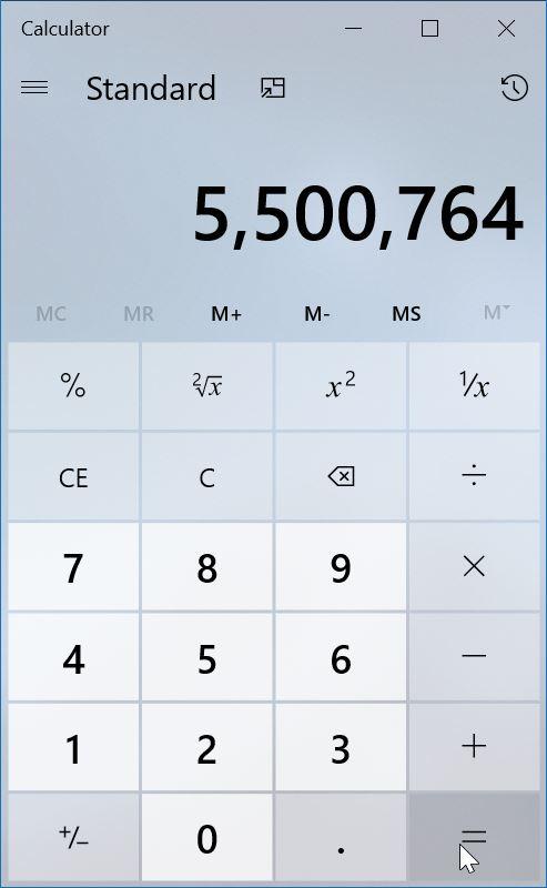 windows 7 style classic calculator for Windows 10