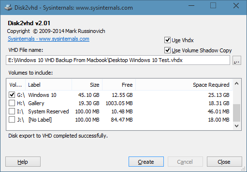 Create vhd from physical Windows 10 drive picture5