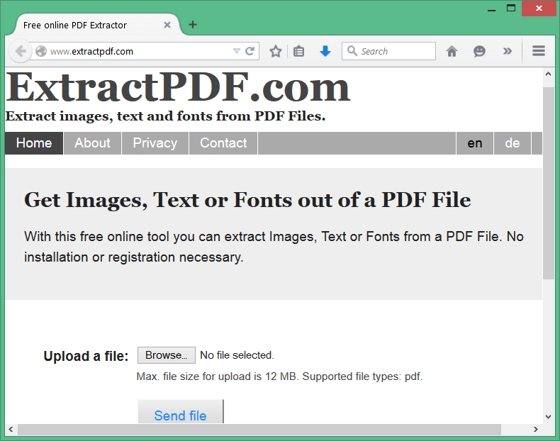 Extract text from PDF files method1
