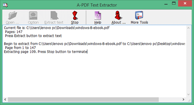 Extract text from PDF files method5
