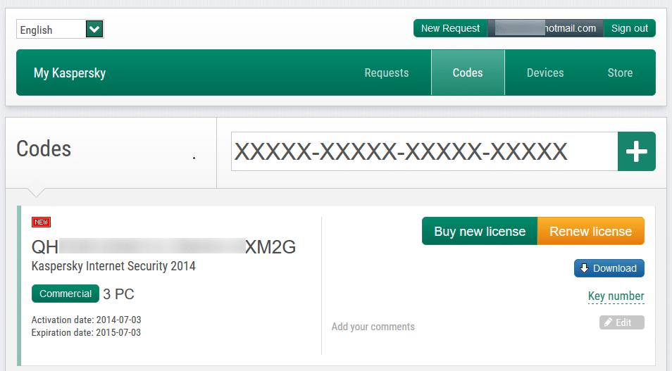 serial code kaspersky antivirus 2014