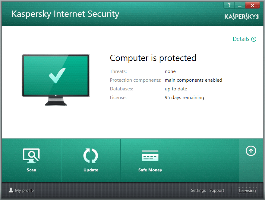 Recovering Kaspersky product key