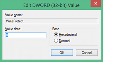 The Disk is write-protected error solution6