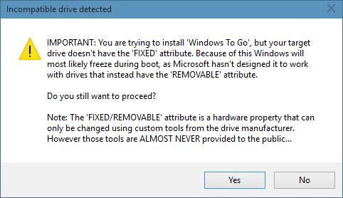 Windows 10 To Go using Rufus 2