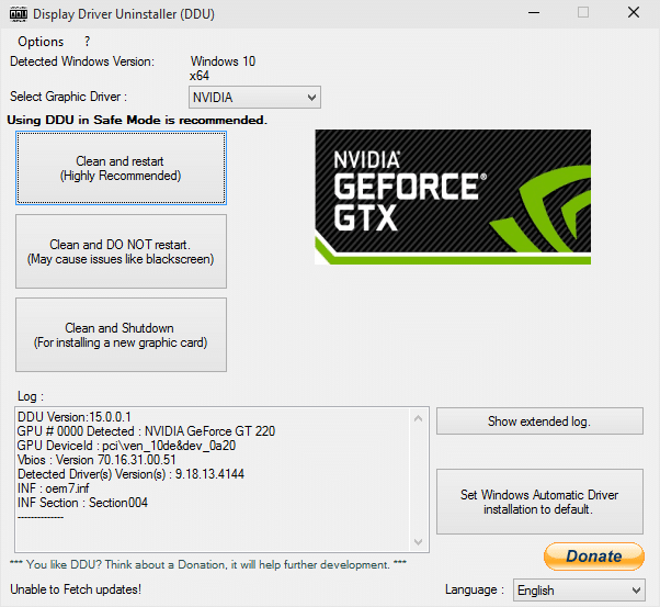 Display Driver Uninstaller AMD
