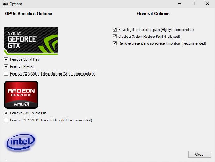 Display Driver Uninstaller Intel