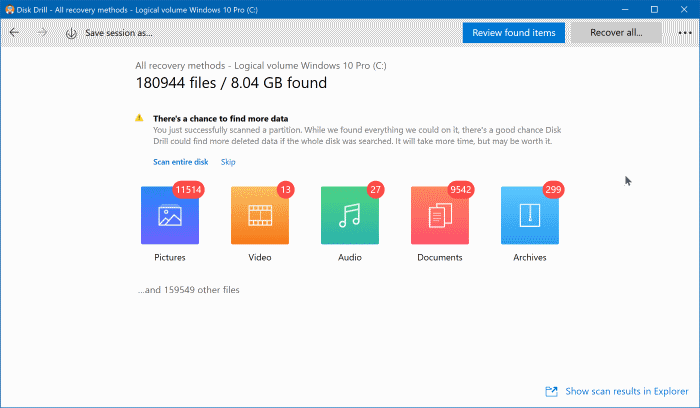 download Disk Drill Free for Windows 10 pic1