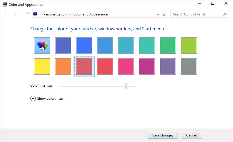 Change the color of Start menu step9