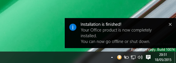 Install Office 2016 on Windows 10 Step5