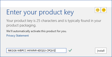 Installing office 2016 on windows 10 for Window 10 product key