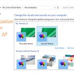 How To Open Personalization Window In Windows 10