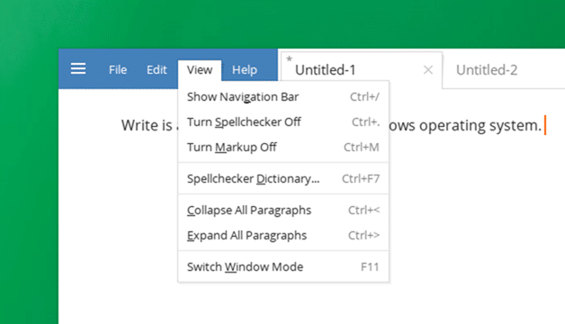 Write Text Editor for Windows 10