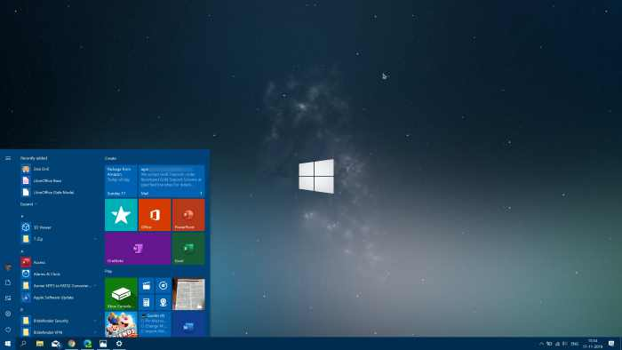 change start menu color in Windows 10 pic01