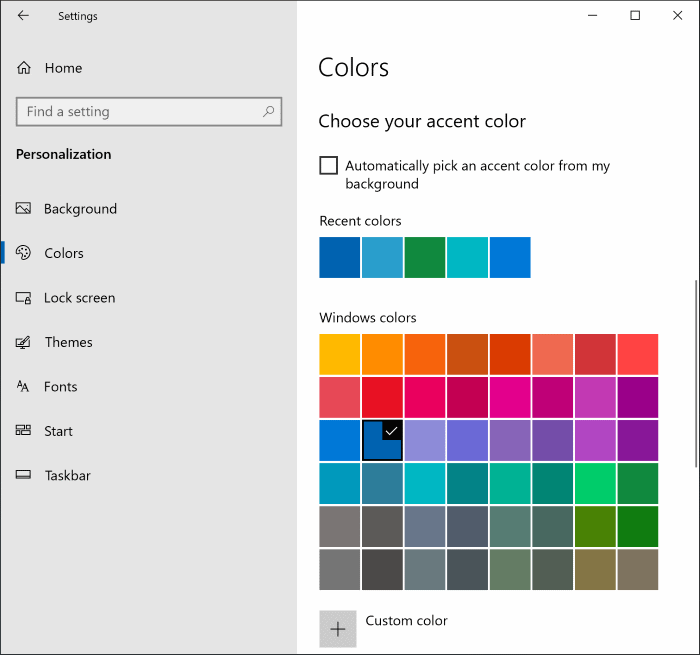 change start menu color in Windows 10 pic4