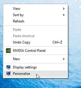 Change default desktop theme in Windows 10