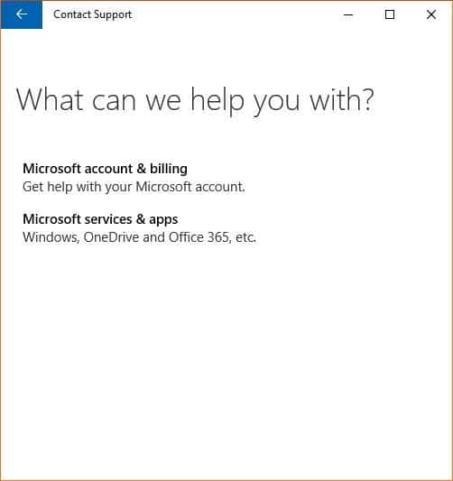 Chat with Microsoft support Windows 10 picture2