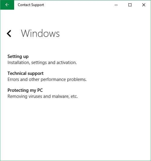 Chat With Microsoft Support In Windows 10