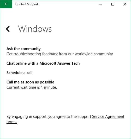 Chat with Microsoft support Windows 10 picture4