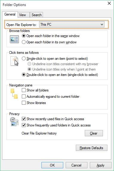 Disable Quick Access in Windows 10 picture2