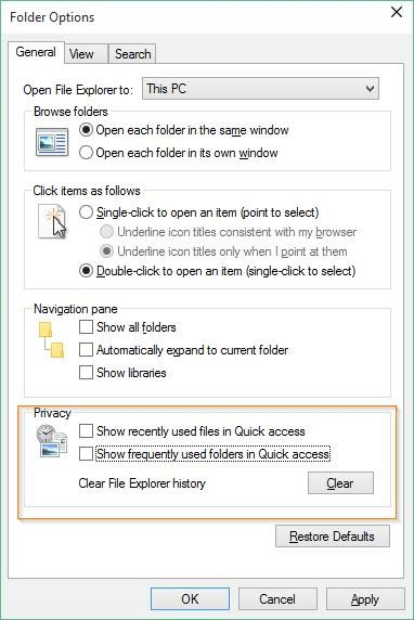 Disable Quick Access in Windows 10 picture3