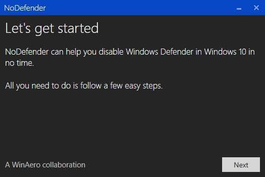 Disable Windows Defender in Windows 10 step2