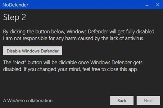 Disable Windows Defender in Windows 10 step5