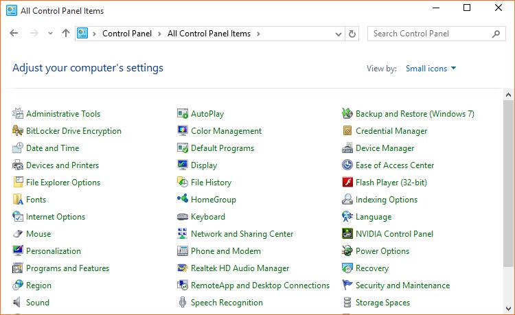 Open Control Panel Windows 10 step02