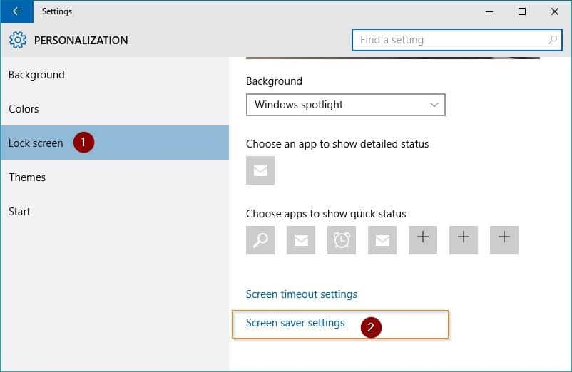 Open Screen Saver Settings in Windows 10 picture2