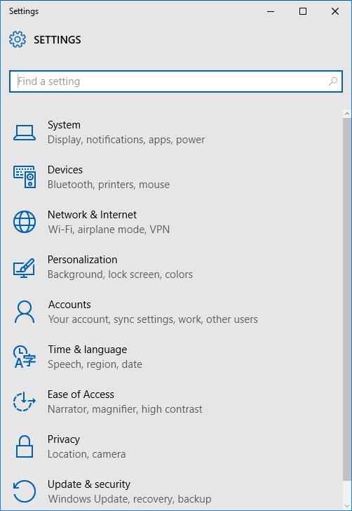 Open Settings Windows 10 Step2