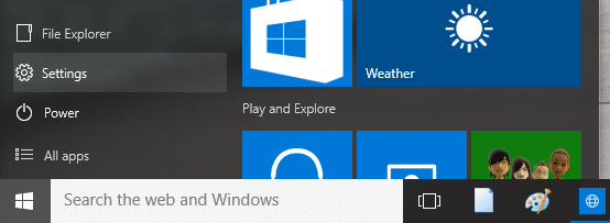 Open Settings Windows 10 Step3